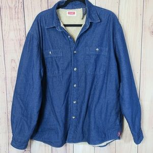 WRANGLER | Fur Lined Button Up Size XL